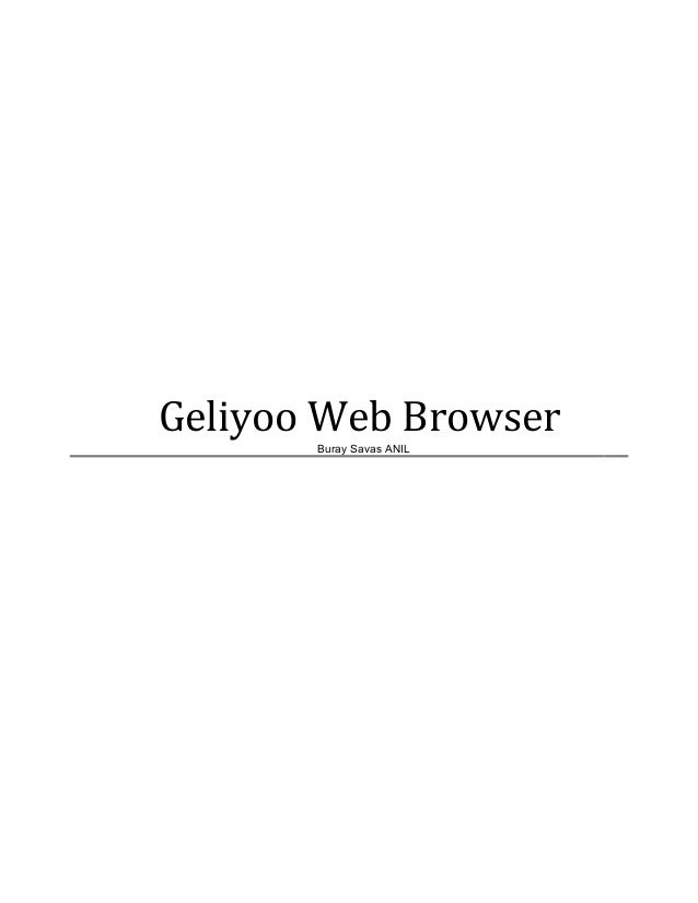 Geliyoo Web BrowserBuray Savas ANIL