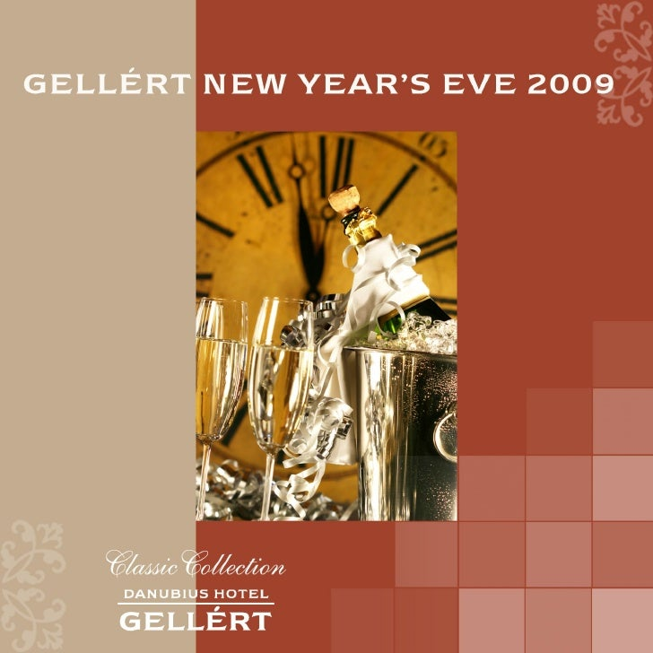 Gellert New Years Eve 2009 Program