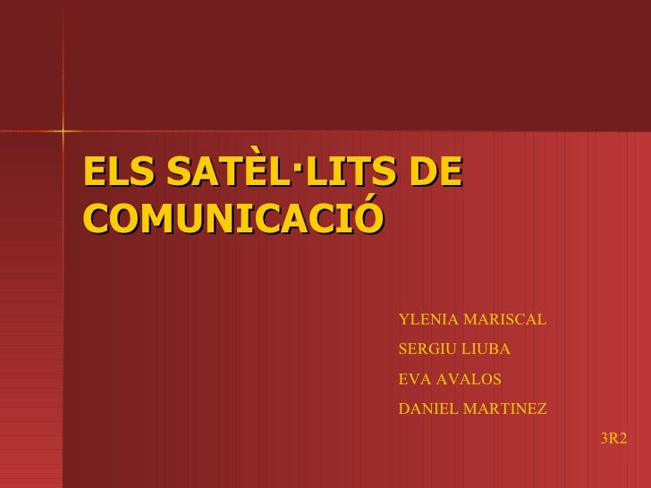 Els Satèl·lits de Comunicació