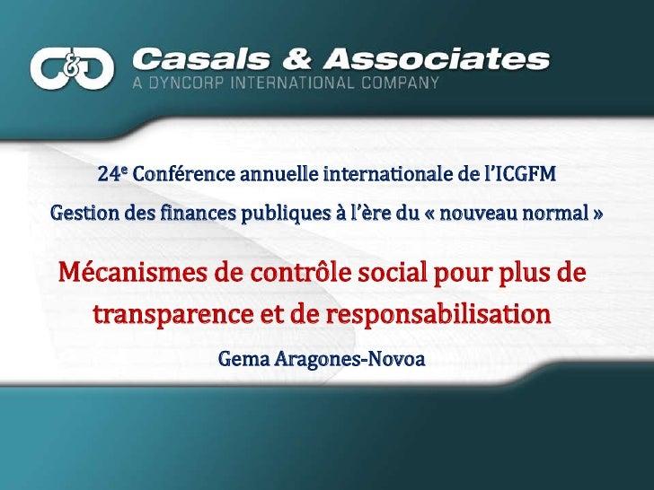 24e Conférence annuelle internationale de l'ICGFM <br />Gestion des finances publiques à l'ère du «nouveau normal» <br /...