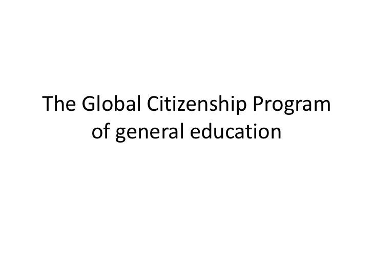 The Global Citizenship Program of general education<br />