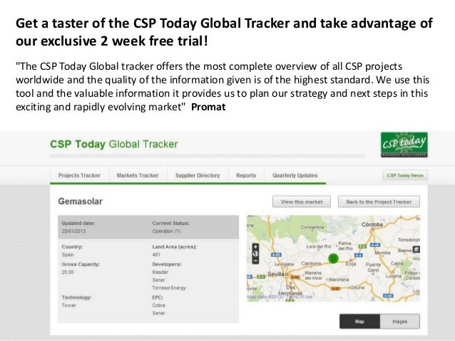 "Get a taster of the CSP Today Global Tracker and take advantage ofour exclusive 2 week free trial!""The CSP Today Global tr..."