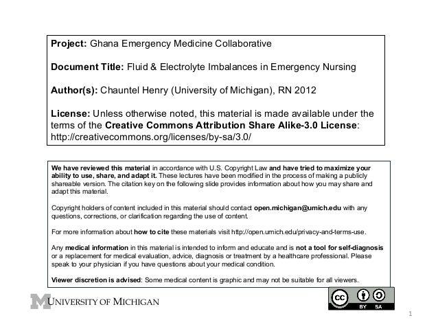GMEC - Fluid and Electrolyte Imbalances in Emergency Nursing