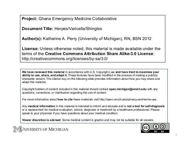 GEMC - Herpes, Shingles Vericella - for Nurses