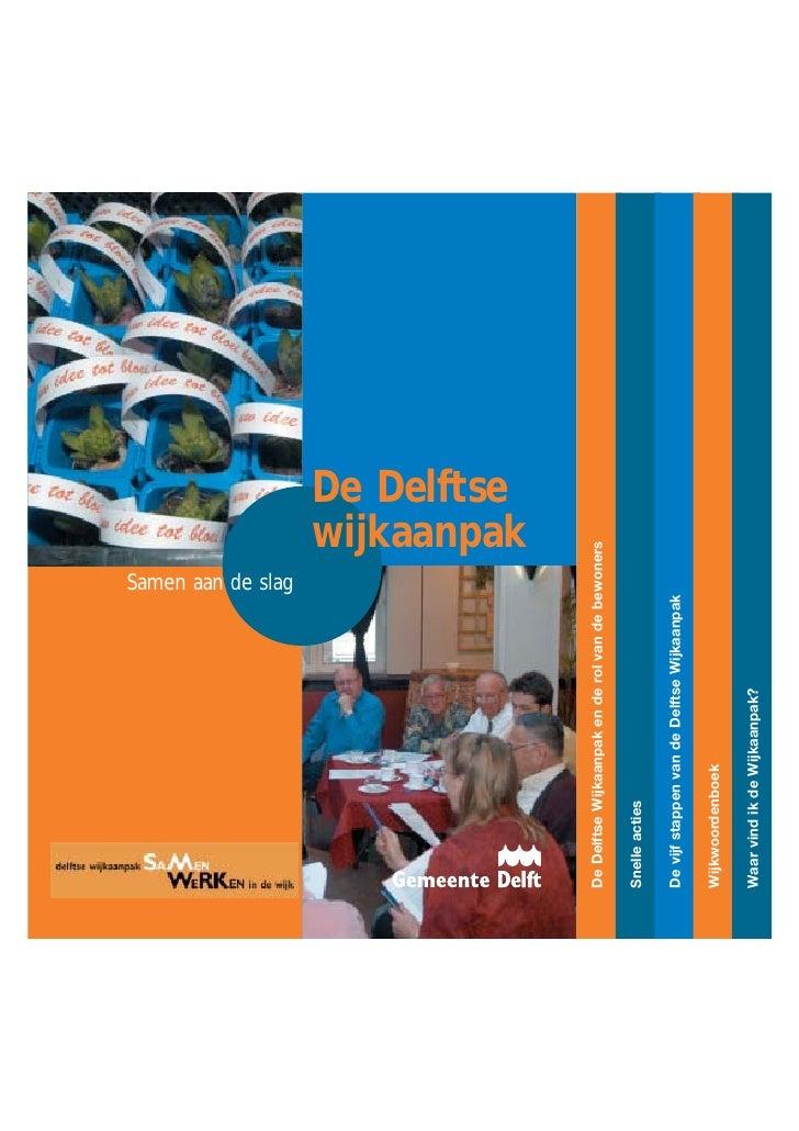 Gemeente Delft: De Delftse wijkaanpak