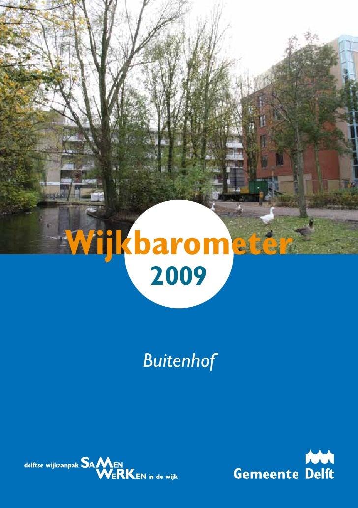 Wijkbarometer     2009       Buitenhof                     i
