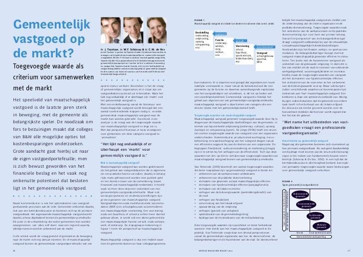 Gemeentelijk vastgoed op de markt? Artikel van J. Tazelaar, W.F. Schönau en C. de Vos in Service Magazine (maart 2011)
