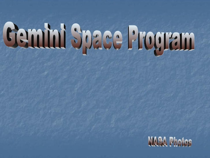 Gemini Space Program NASA Photos