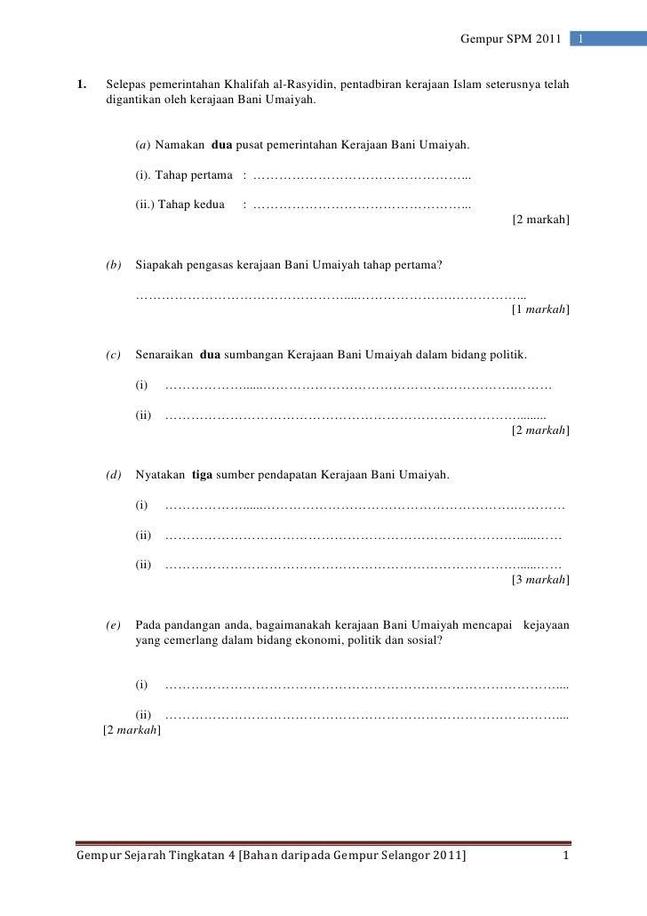 Soalan Gempur Selangor Tingkatan 4 2011