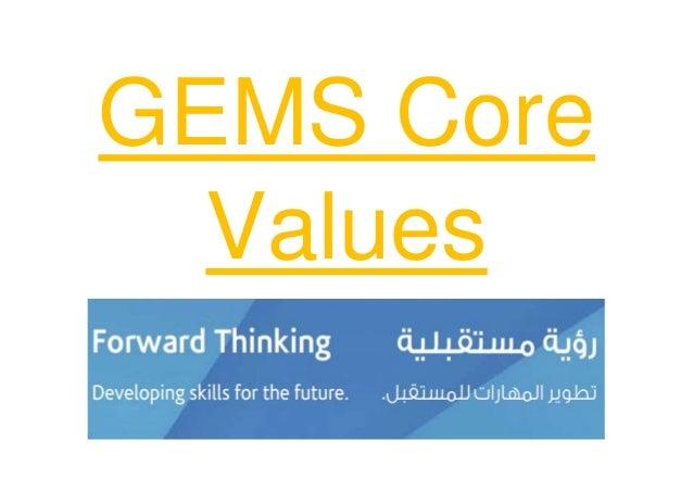 GEMS Core Values