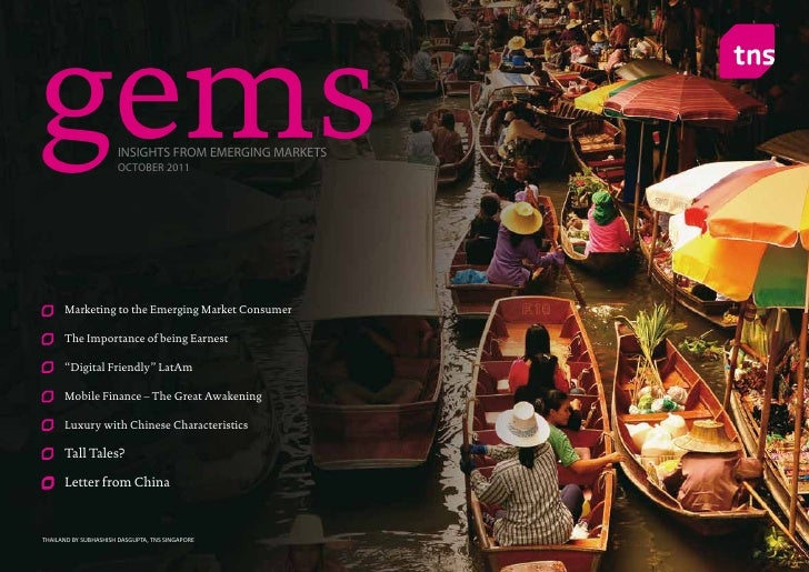 gems                  INSIGHTS FROM EMERGING MARKETS                      OCTOBER 2011      Marketing to the Emerging Mark...