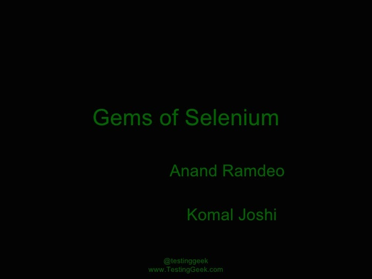 Gems Of Selenium