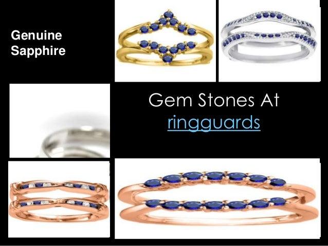 Gem stones at ringguard
