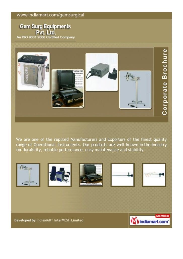 Gem Surg Equipments Pvt. Ltd, New Delhi, Surgical Instruments
