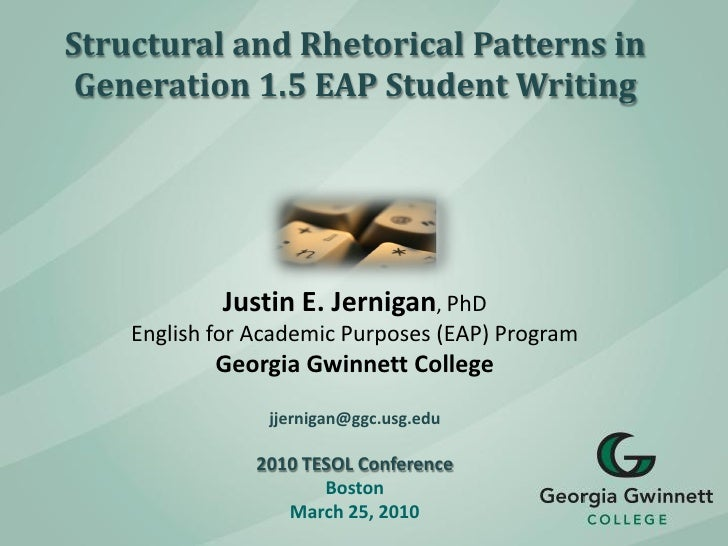 Structural and Rhetorical Patterns in Generation 1.5 EAP Student Writing