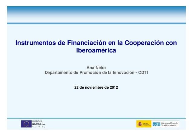 Instrumentos de Financiación en la Cooperación con                   Iberoamérica                                         ...