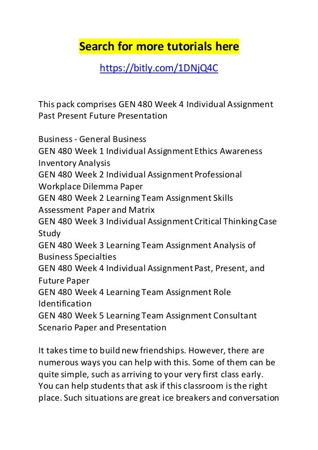 gen 480 case study assignment Gen480 gen/480 gen 480 week 3 individual critical thinking case study append this critical thinking case study assignment to finish the case study price:.