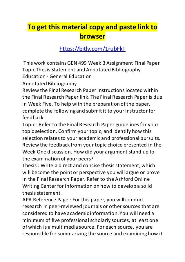 Organizing your social sciences research paper: annotated