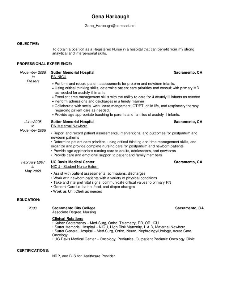 Example Rn Resume  Resume Examples And Free Resume Builder