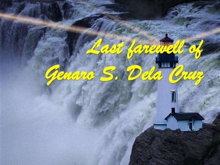 Last farewell of Genaro S. Dela Cruz