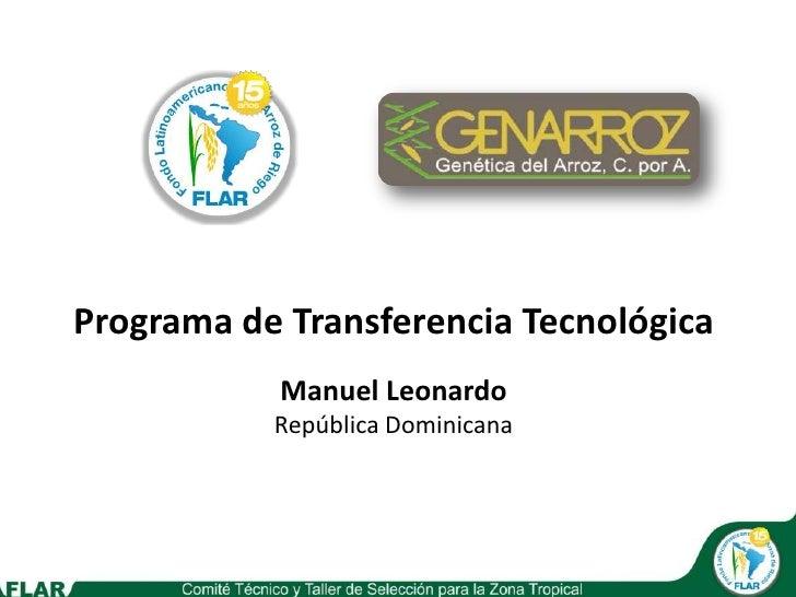 Genarroz agronomia comité técnico 2010 puerto plata