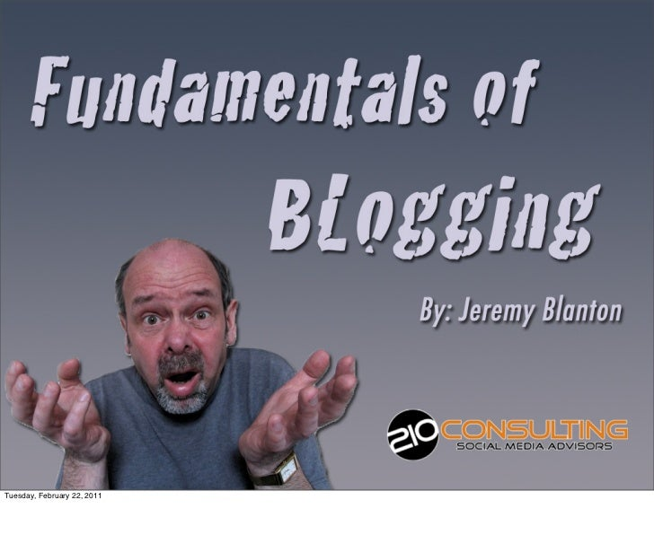 #GENBLUE Fundamentals of Blogging