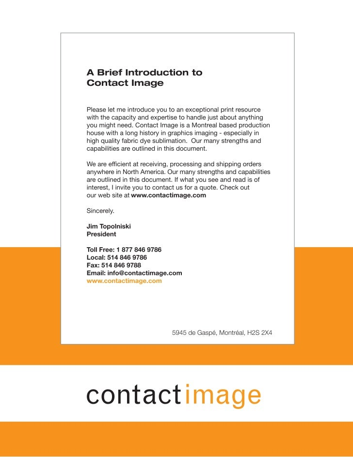 Contact image Overview