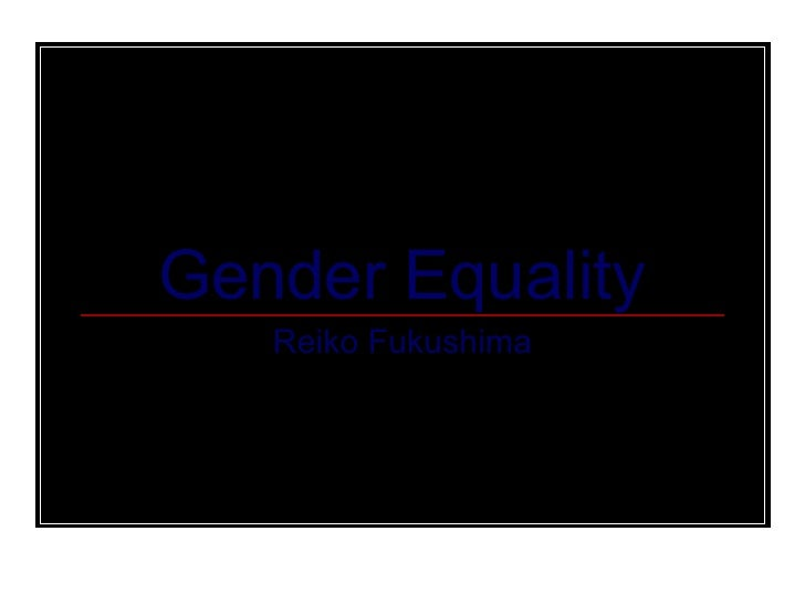 Gender Equality and Microloans