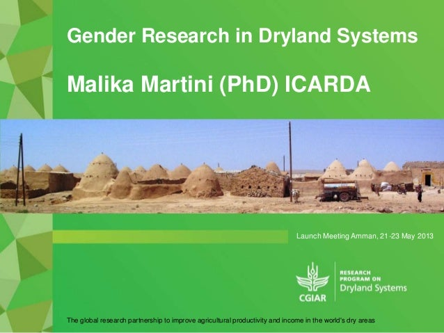 Gender Research in Dryland Systems