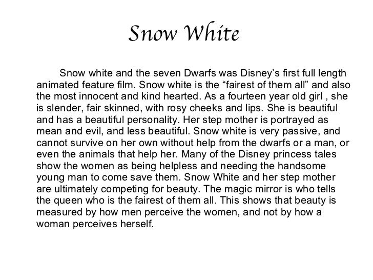 snow white gender roles Fairy tale, seven dwarfs, snow white - perspectives on gender roles: snow white and mirrors.