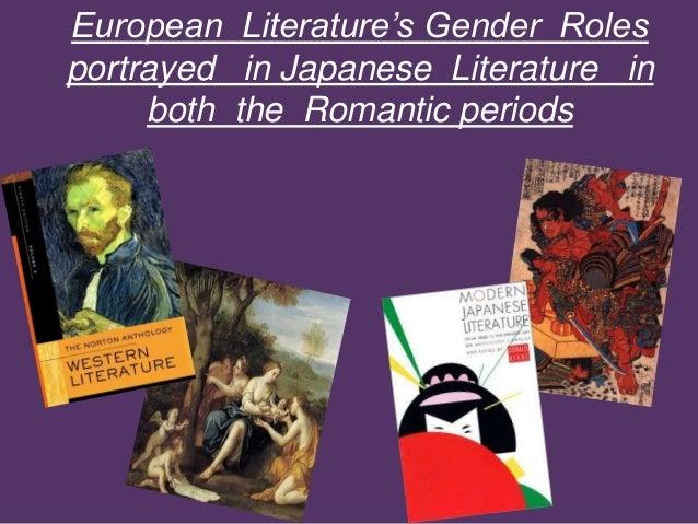 Europen gender roles portrayed in Japanese literature