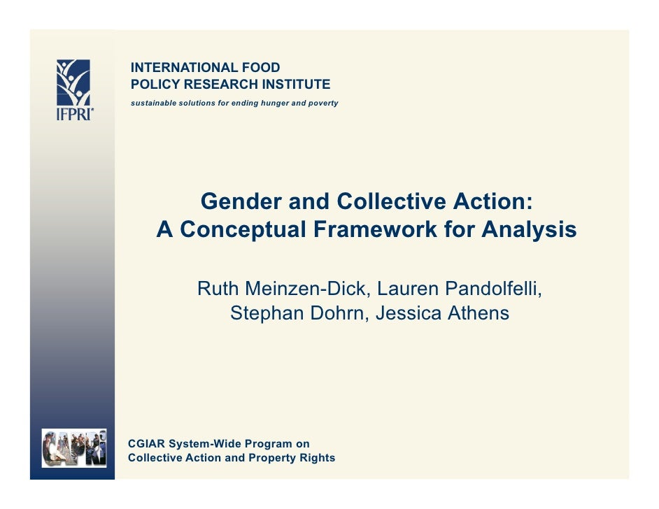 INTERNATIONAL FOOD POLICY RESEARCH INSTITUTE sustainable solutions for ending hunger and poverty              Gender and C...