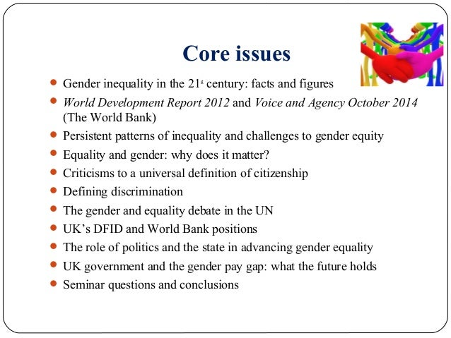 why do gender inequalities persist essay Sample essay on examples of gender inequality in america  women are not allowed to engage into politics and if they do,  gender inequalities gugodp.