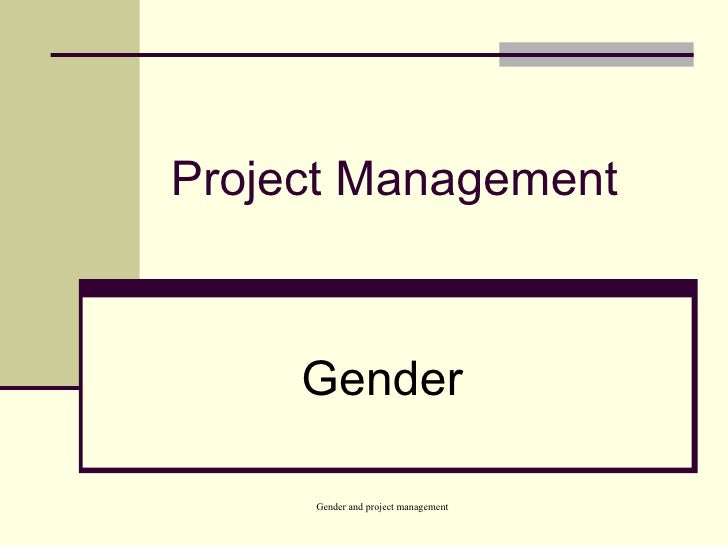 Project Management Gender