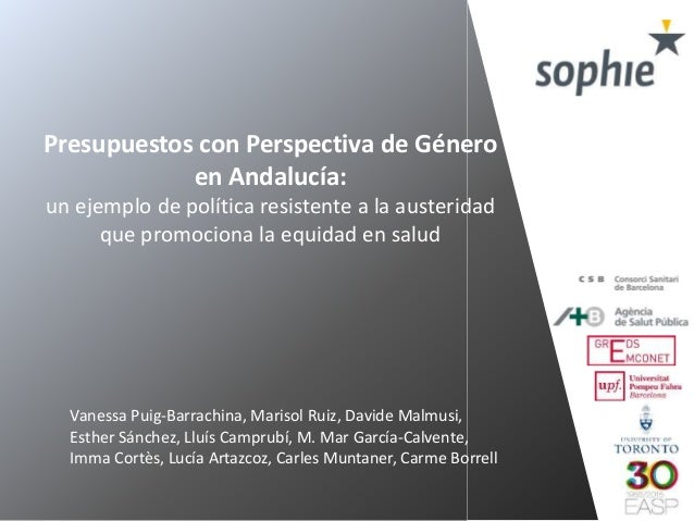 Presupuestos con Perspectiva de Género en Andalucía: un ejemplo de política resistente a la austeridad que promociona la e...