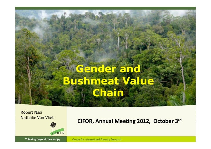 Gender and bushmeat value chain