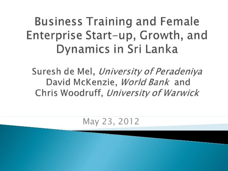 Gender and Business Training