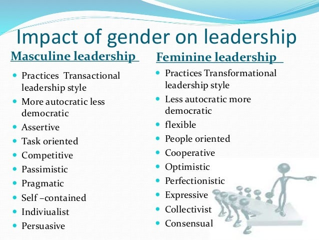 gender differences in leadership believing Literature that shows no gender differences in leadership   tactics vary  across gender those who do not believe that men and women implement  different.