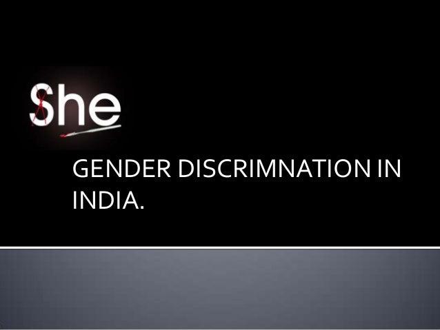 Gender discrimaination