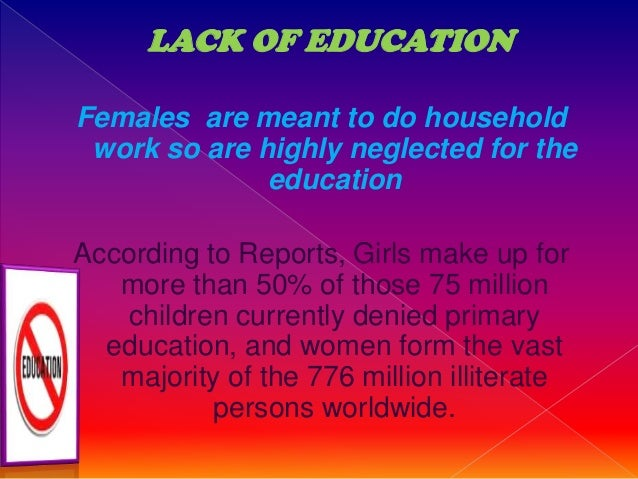 gender discrimination in education essay Research paper on gender discrimination in china (research paper  gender discrimination in  availability of education to the female child has been one of the.