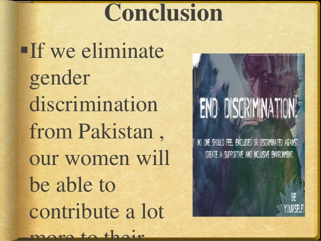 How can you conclude an essay on discrimination?