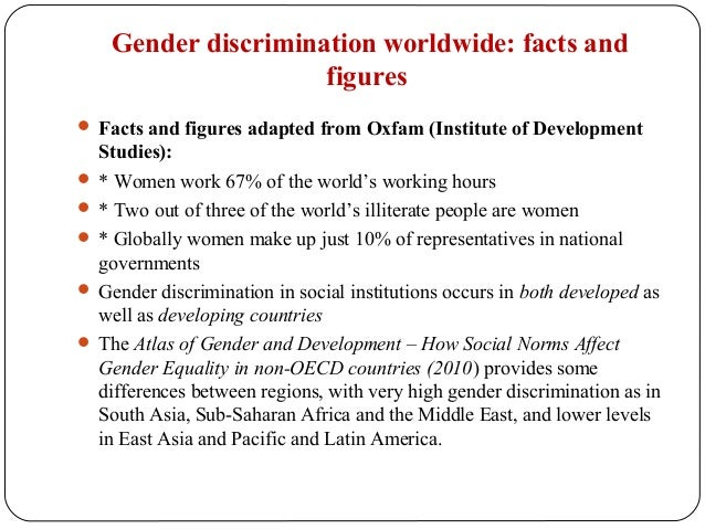 gender bias workplace essay Gender bias is a preference or prejudice toward one gender over the other bias can be conscious or unconscious, and may manifest in many ways, both subtle and obvious in many countries, eliminating gender bias is the basis of many laws, including those that govern workplaces, family courts.