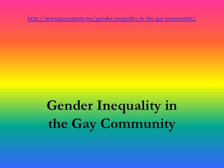 Gender inequality inside the lgbt community