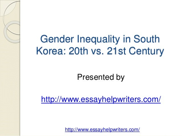 gender inequality gp essay notes