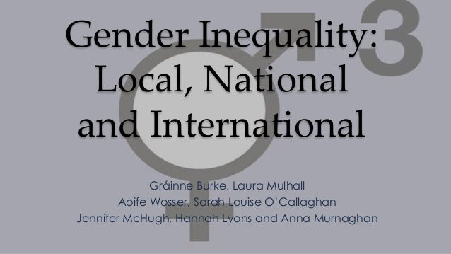 Gender Inequality: Local, National and International Gráinne Burke, Laura Mulhall Aoife Wosser, Sarah Louise O'Callaghan J...