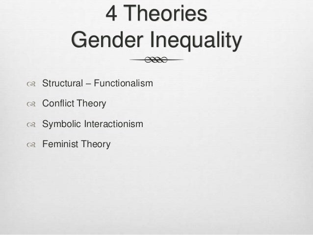 Functionalism and gender inequality