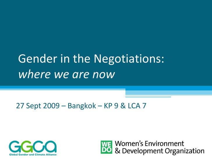 Gender In The Negotiations (Ggca)