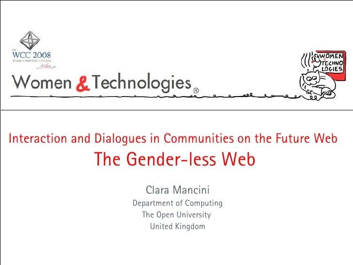 The gender-less web (Clara Mancini)