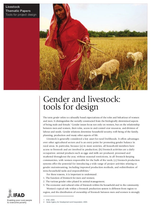LivestockThematic PapersTools for project design                           Gender and livestock:                          ...