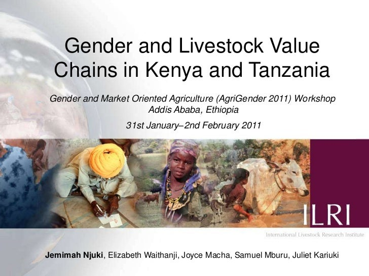 Gender and livestock value chains in Kenya and Tanzania